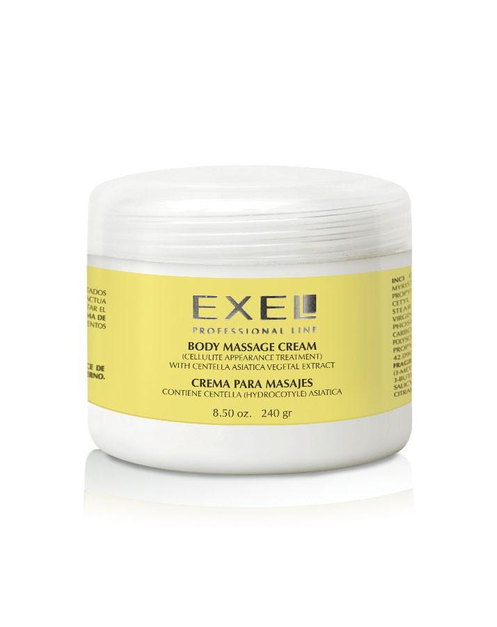 Crema para masajes con Centella Asiática x240g Exel