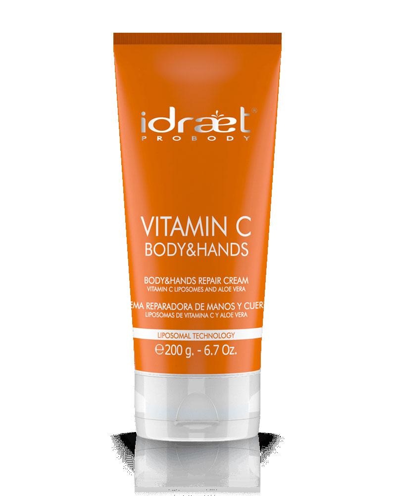 Vitamina C Crema Reparadora Manos y Cuerpo, Idraet