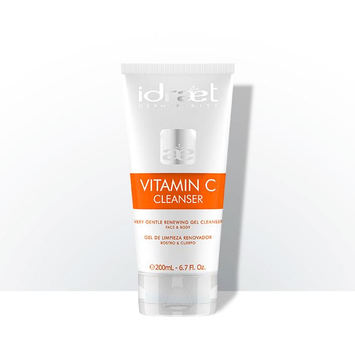 Vitamina C Gel de Limpieza Renovador Rostro y Cuerpo, Idraet